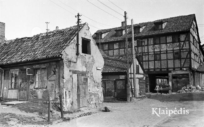 Pasiuntinių - Bažnyčių g. 1959/ Albinas Stubra. Šaltinis:www.klaipedis.lt
