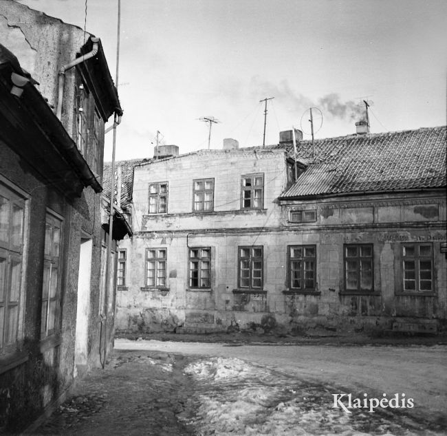 Jūros gatvė 1970 / Albinas Stubra. Šaltinis: www.klaipedis.lt