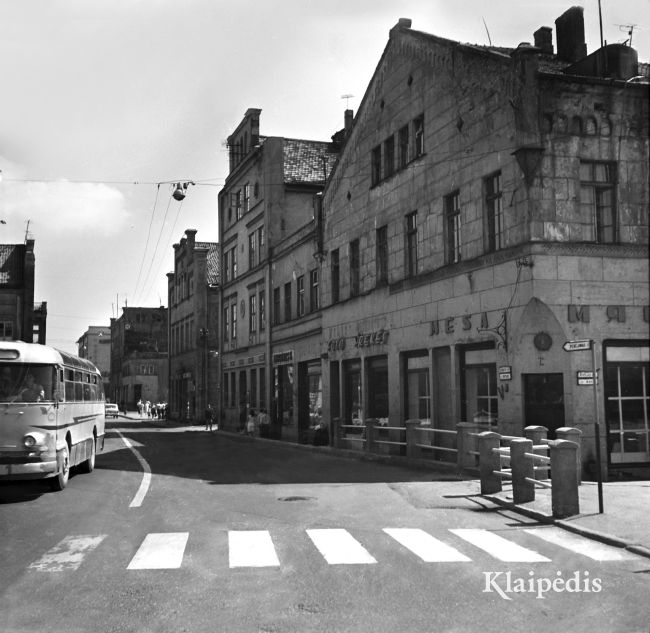 Senamiestis nuo Biržos tilto / Albinas Stubra. Šaltinis: www.klaipedis.lt